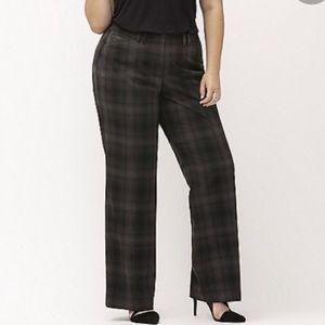 Lane Bryant Plaid Dress Pants